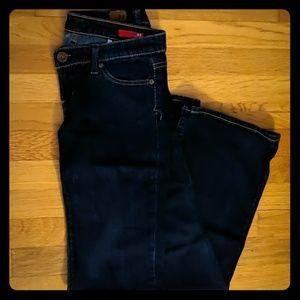 Dark wash Express x2 flare jeans